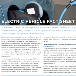 Electric Vehicle Fact Sheet