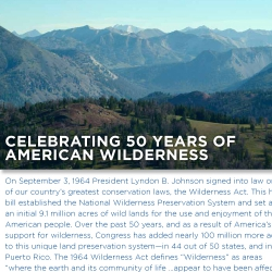Celebrating 50 years of American Wilderness
