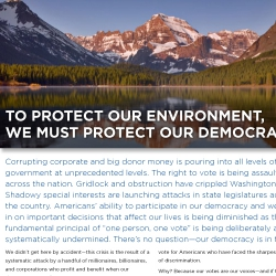 To protect our environment, we must protect our Democracy