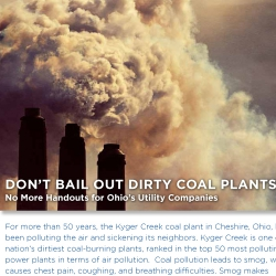 Don't bail out dirty coal plants. No more handouts for Ohio's utility companies