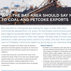 Why the bay area should say no to coal and petcoke exports