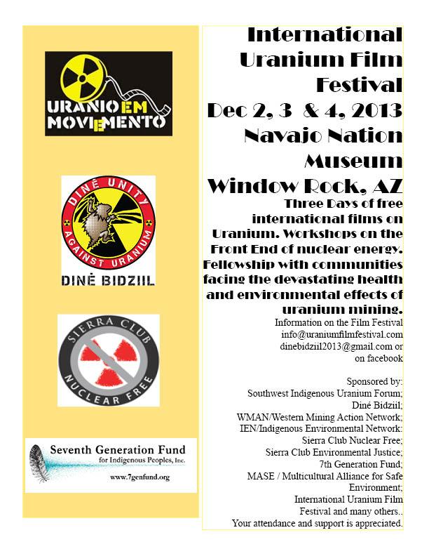 Uranium Film Festival At Window Rock Grassroots Network