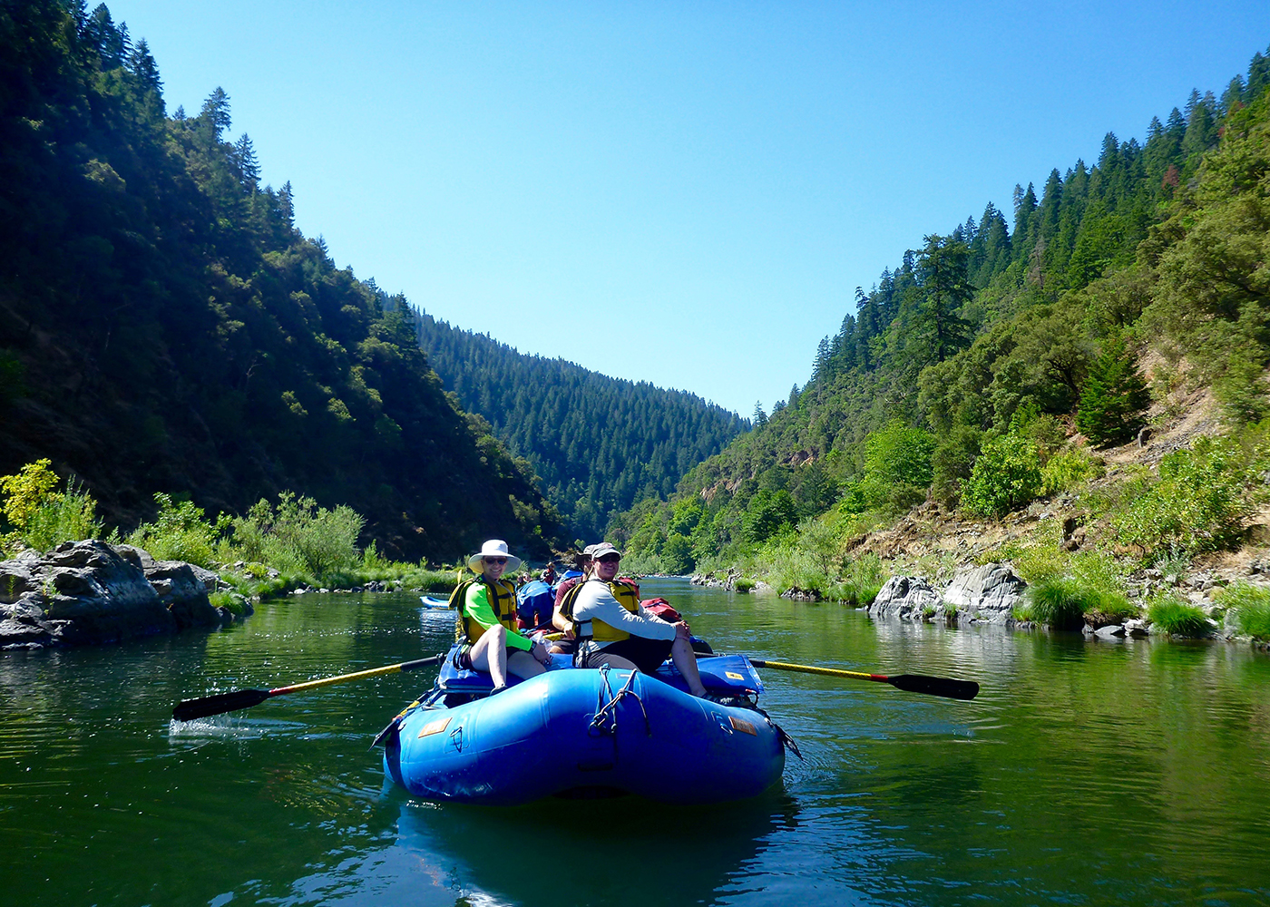 rogue river women This july, we're grabbing a paddle and taking a scenic journey by raft down the federally-protected rogue river in oregon on a segment of our pacific northwest: redwoods, river rafting and crater lake adventure.